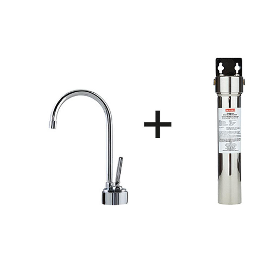 Franke DW8000-100 Twin Cold Water Only Kitchen Faucet with Filtration in Polished Chrome