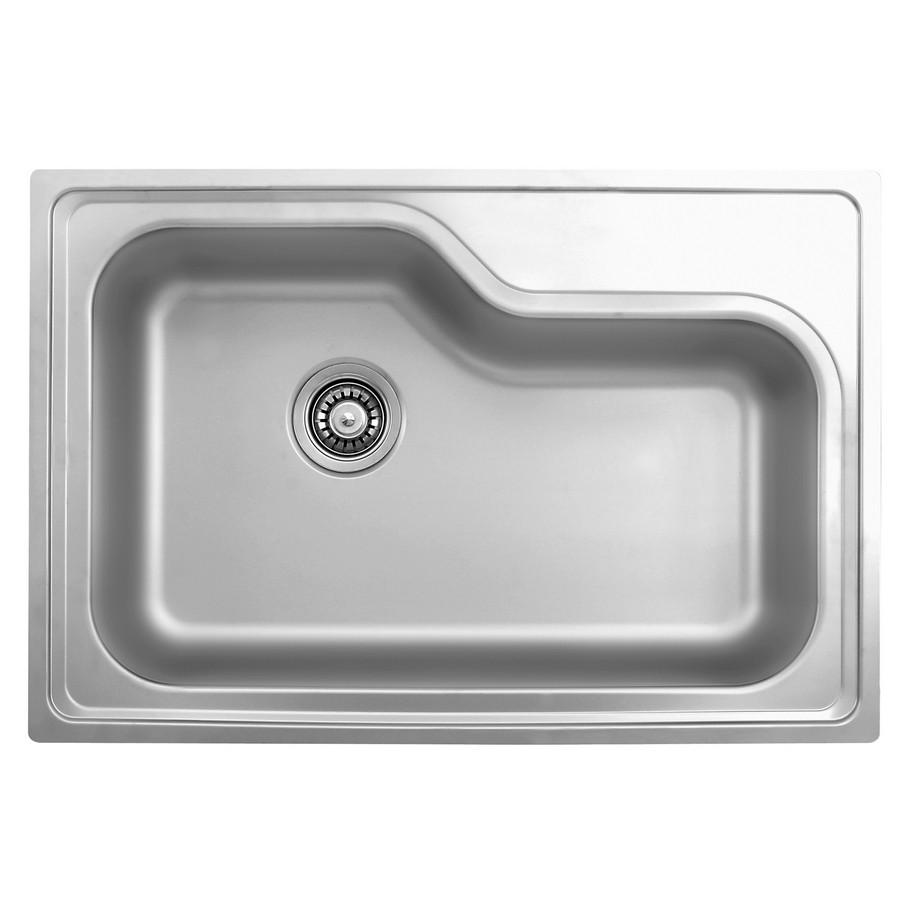 Ukinox DXT840 Single Basin Drop-in Kitchen Sink in Stainless Steel