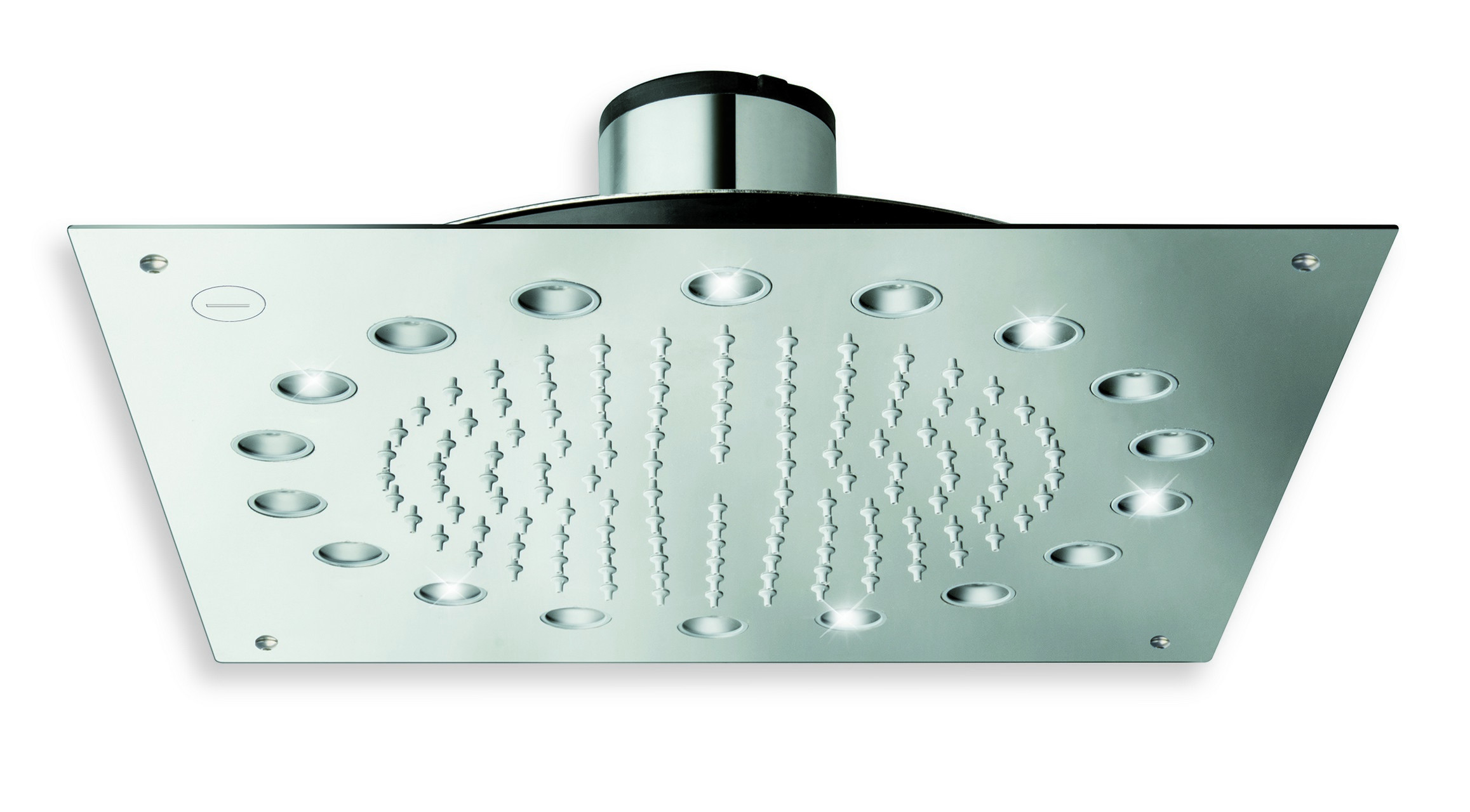 Aquatica DYN-WCSQ-340 Built-In Shower Head In Chrome With LED Lights