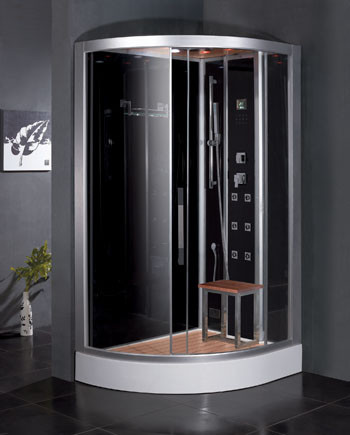 Ariel Platinum DZ967F8 Steam Shower With Rainfall Ceiling Shower