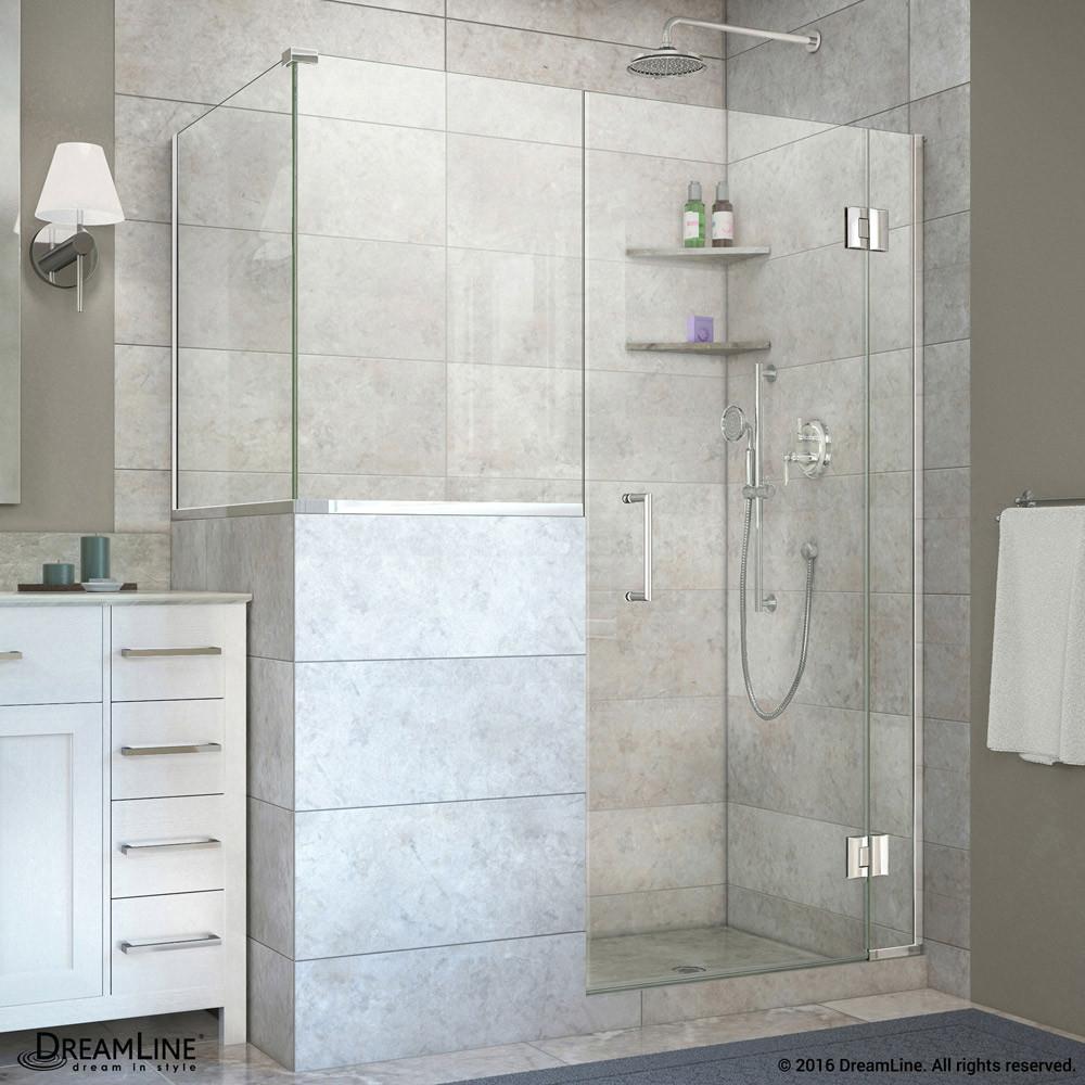 DreamLine E124303430-01 Unidoor-X Hinged Shower Enclosure In Chrome Finish