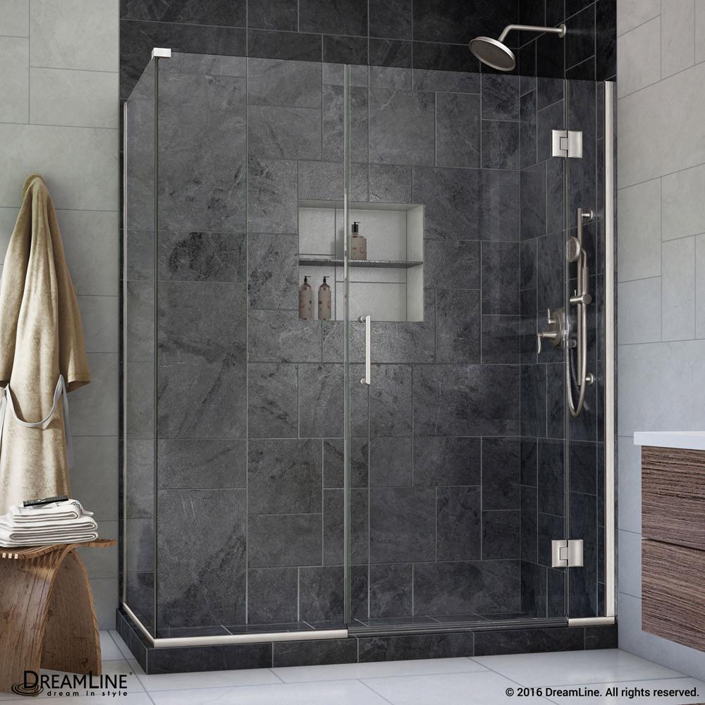 DreamLine E12614530-04 Unidoor-X Hinged Shower Enclosure In Brushed Nickel Finish