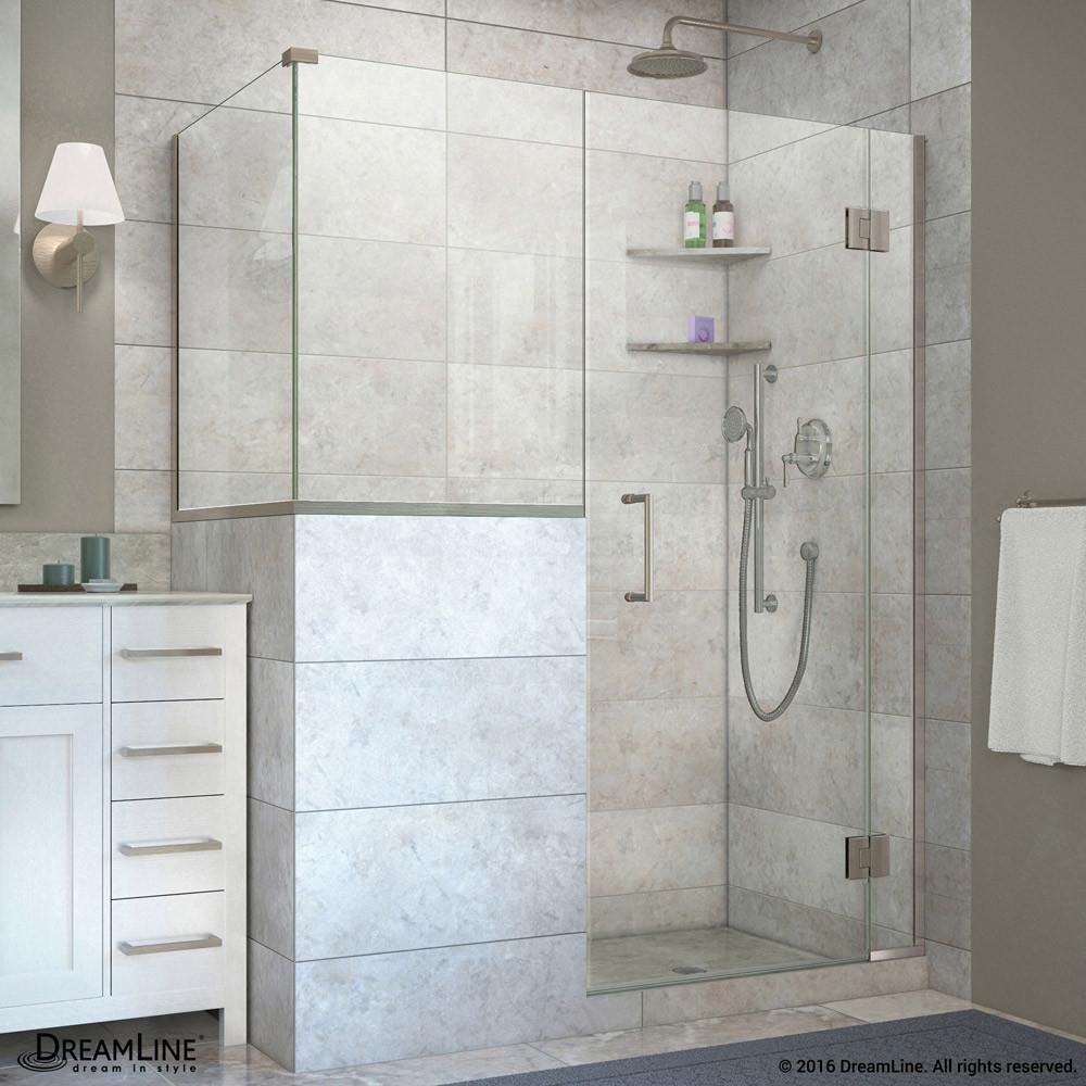 DreamLine E130243430-04 Unidoor-X Hinged Shower Enclosure In Brushed Nickel Finish