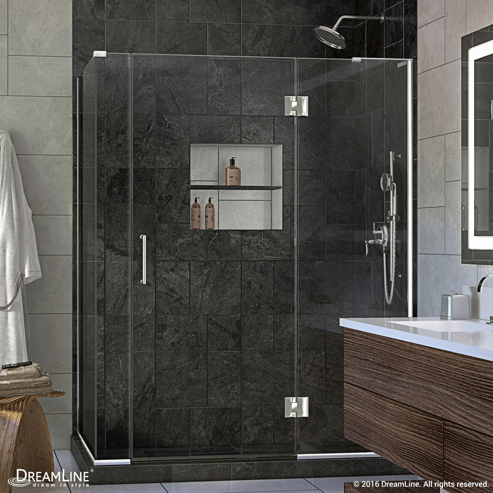 DreamLine E3280634R-01 Chrome Unidoor-X Hinged Shower Enclosure With Right-wall Bracket