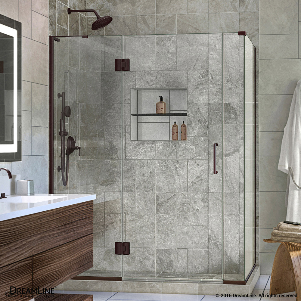 DreamLine E3290634L-06 Oil Rubbed Bronze Hinged Shower Enclosure With Left-wall Bracket