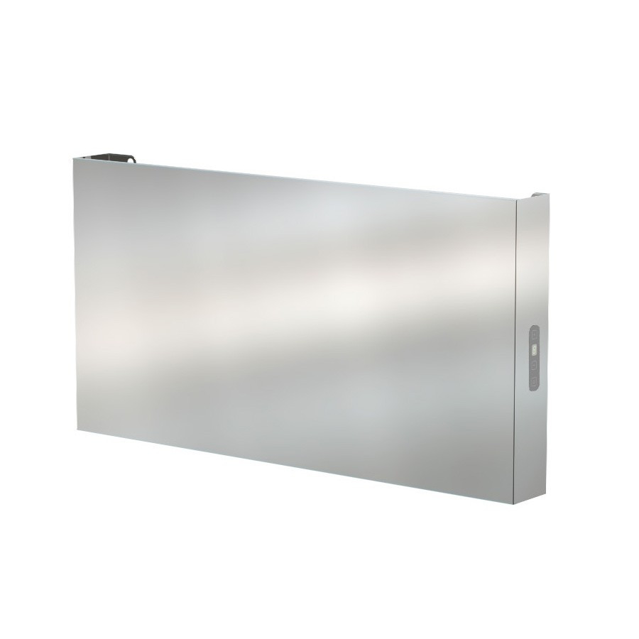 Amba E3418B Elory Modern Wall Mounted Electric Bathroom Towel Warmer In Brushed Stainless Steel