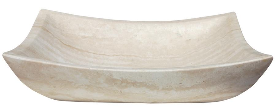 Eden Bath EB_S011WT-H Deep Zen Sink for Bathroom - Honed White Travertine