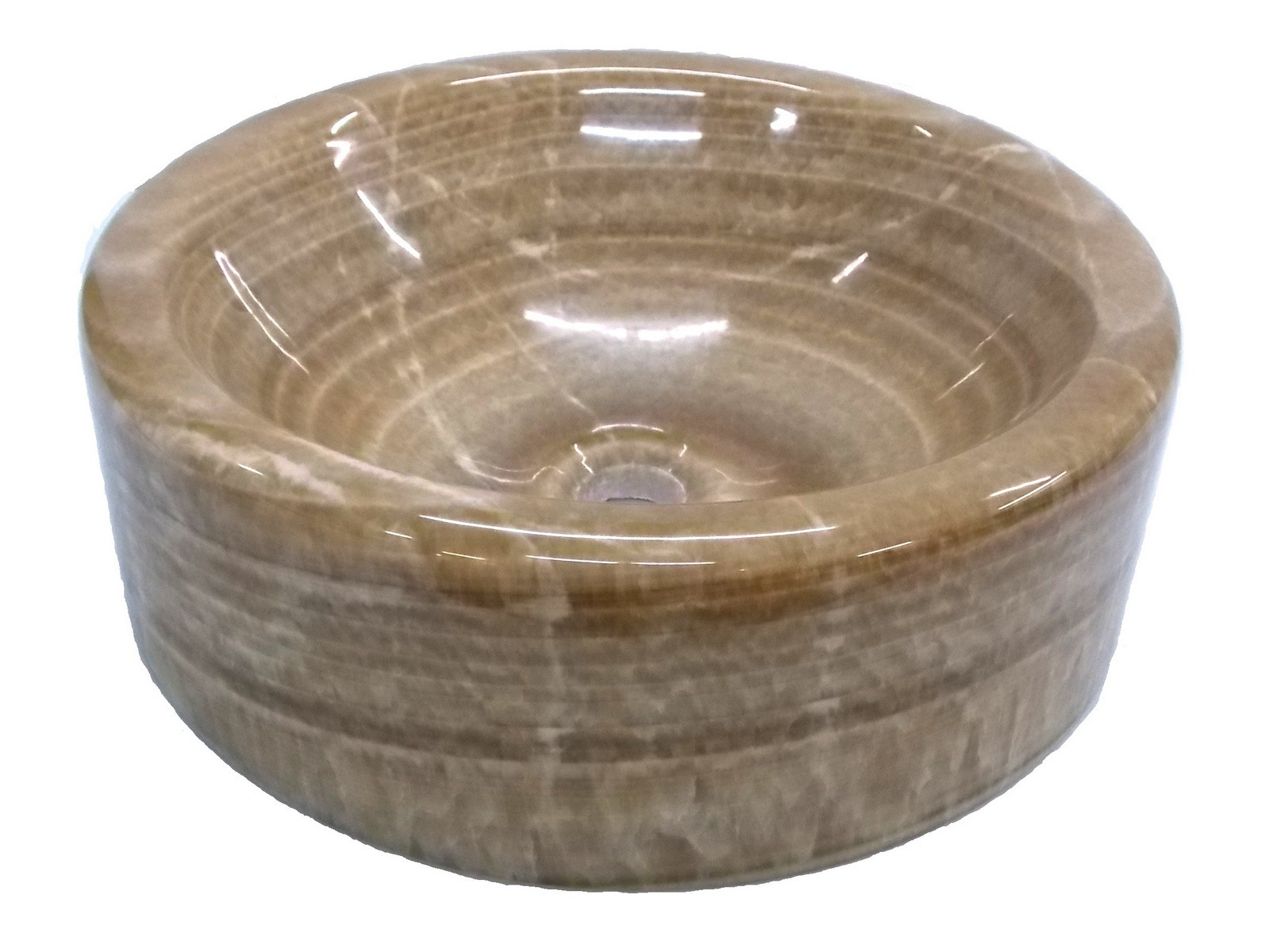 Eden Bath EB_S036BO-P Single Bowl Barrel Vessel Sink In Brown Onyx Polished