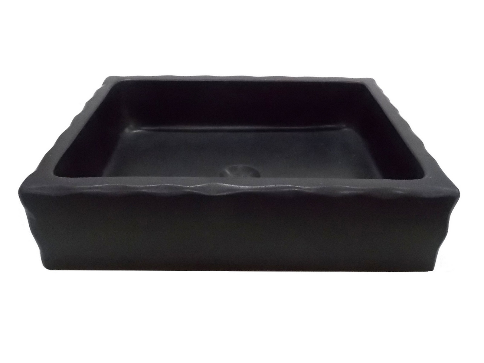 Eden Bath EB_S037LS-H Antique Rectangular Vessel Sink In Honed Lava Stone