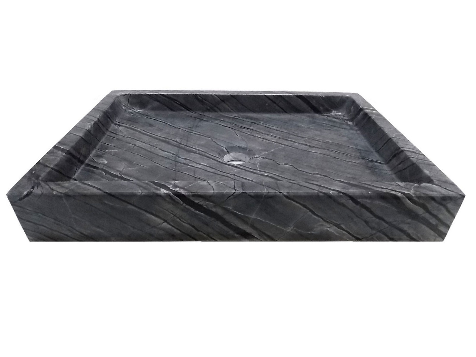 Eden Bath EB_S040WB-P Rectangular Vessel Sink In Wooden Black Marble