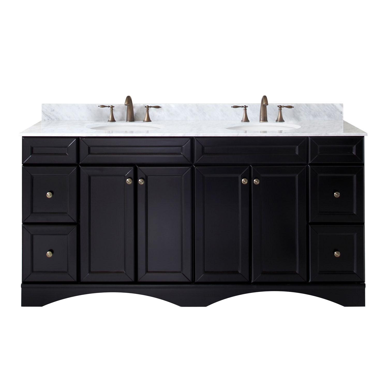 Virtu ED-25072-WMRO-ES-NM Talisa 72 Inch Double Bathroom Vanity Set In Espresso