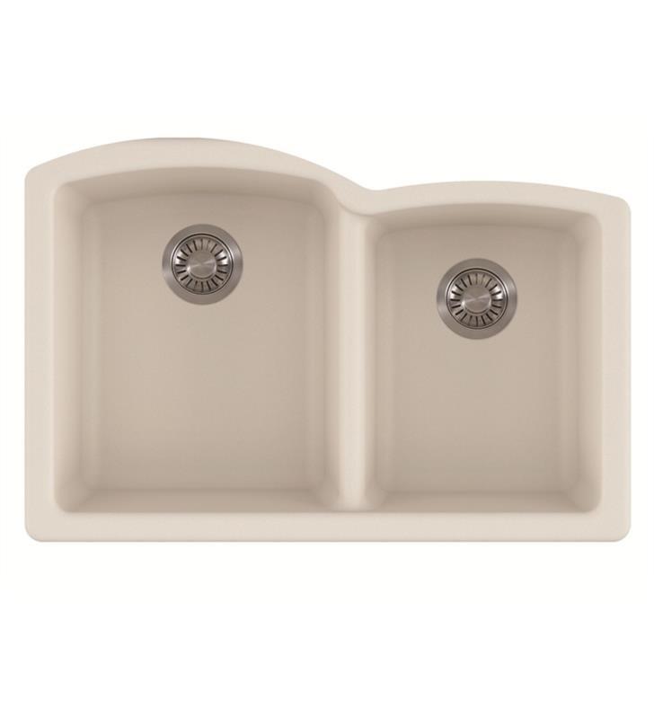 Franke ELG160VAN Ellipse Undermount Rectangular Double Sink Granite Kitchen Sink in Vanilla
