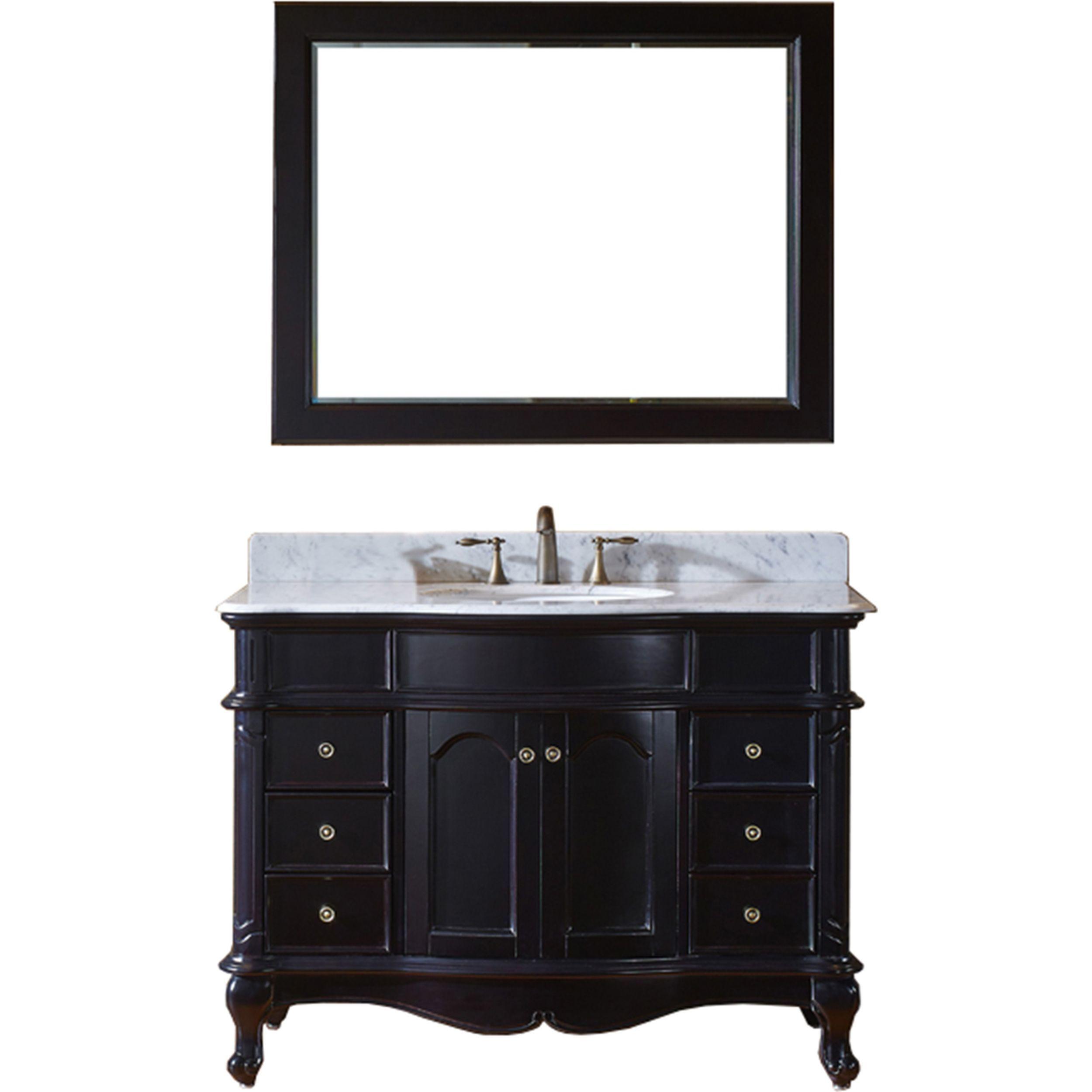 Virtu ES-27048-WMRO-ES Norhaven 48 Inch Single Bathroom Vanity Set In Espresso