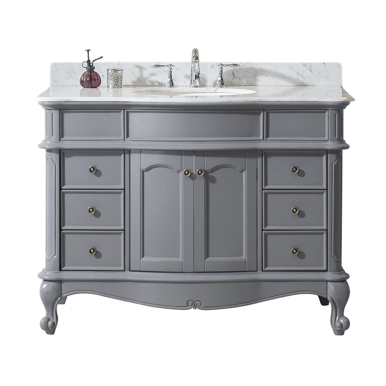 Virtu ES-27048-WMRO-GR-NM Norhaven 48 Inch Single Bathroom Vanity Set In Grey