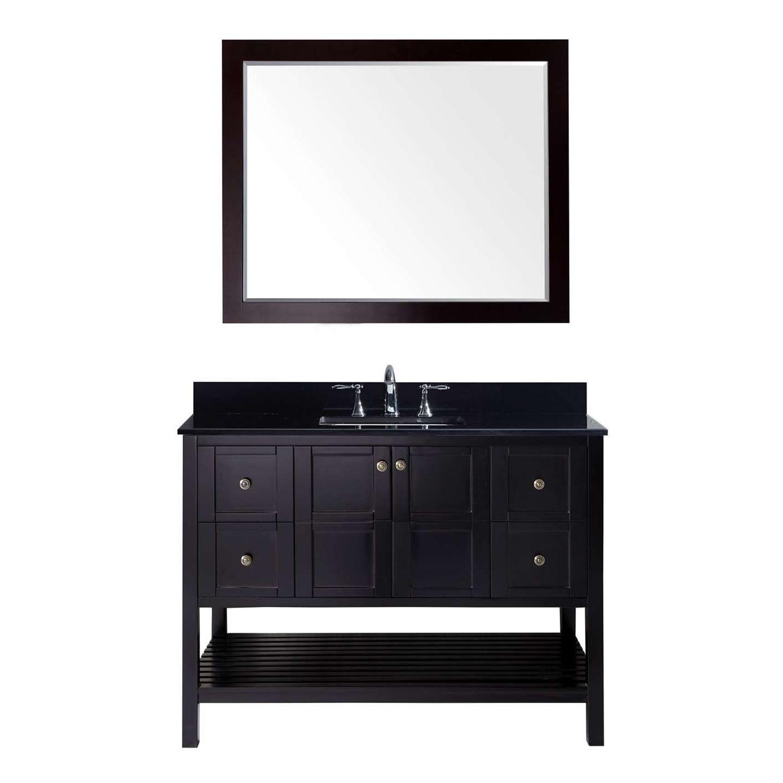 Virtu ES-30048-BGSQ-ES Winterfell 48 Inch Single Bathroom Vanity Set In Espresso
