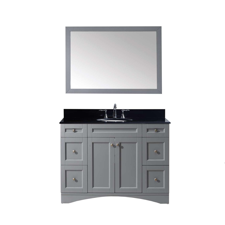 Virtu ES-32048-BGRO-GR Elise 48 Inch Single Bathroom Vanity Set In Grey