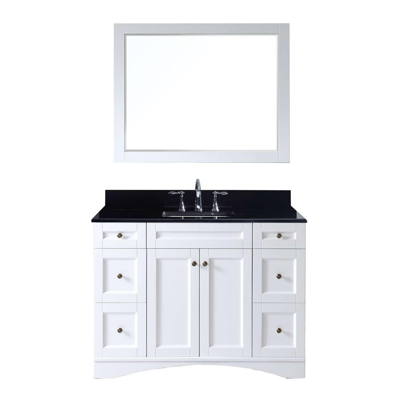 Virtu ES-32048-BGSQ-WH Elise 48 Inch Single Bathroom Vanity Set In White