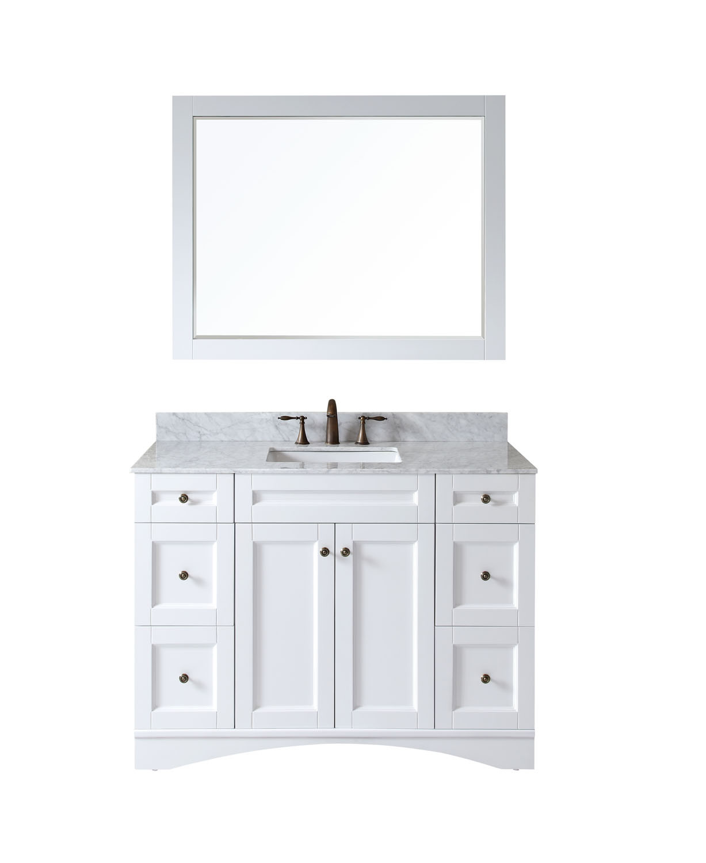 Virtu ES-32048-WMSQ-WH Elise 48 Inch Single Bathroom Vanity Set In White
