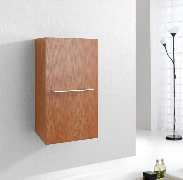 "Virtu USA ESC-342-CH 16"" Carvell - Chestnut - Vanity Side Linen Cabinet"