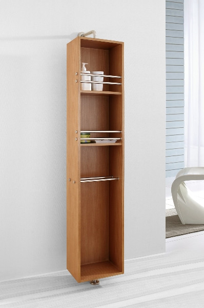 "Virtu USA ESC-711-CH 14"" Marcel - Chestnut - Vanity Side Linen Cabinet"