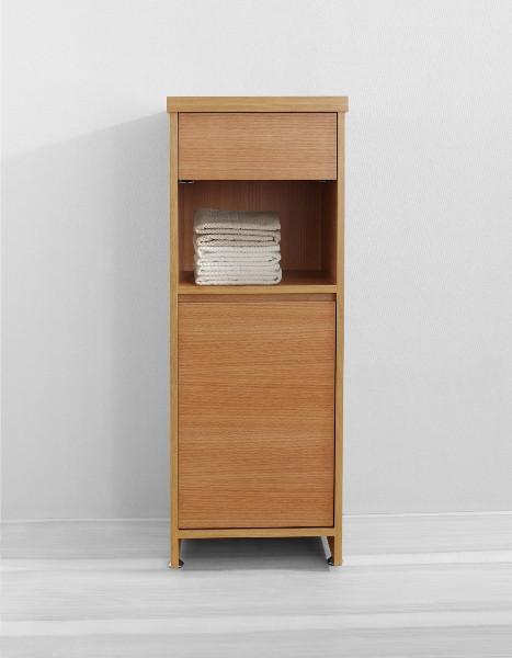 "Virtu USA ESC-900-CH 16"" Raynard - Chestnut - Vanity Side Linen Cabinet"