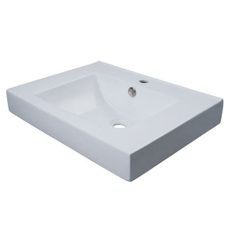 Fauceture EV9620 White or Black Large Cermaic Mission Vessel Sink