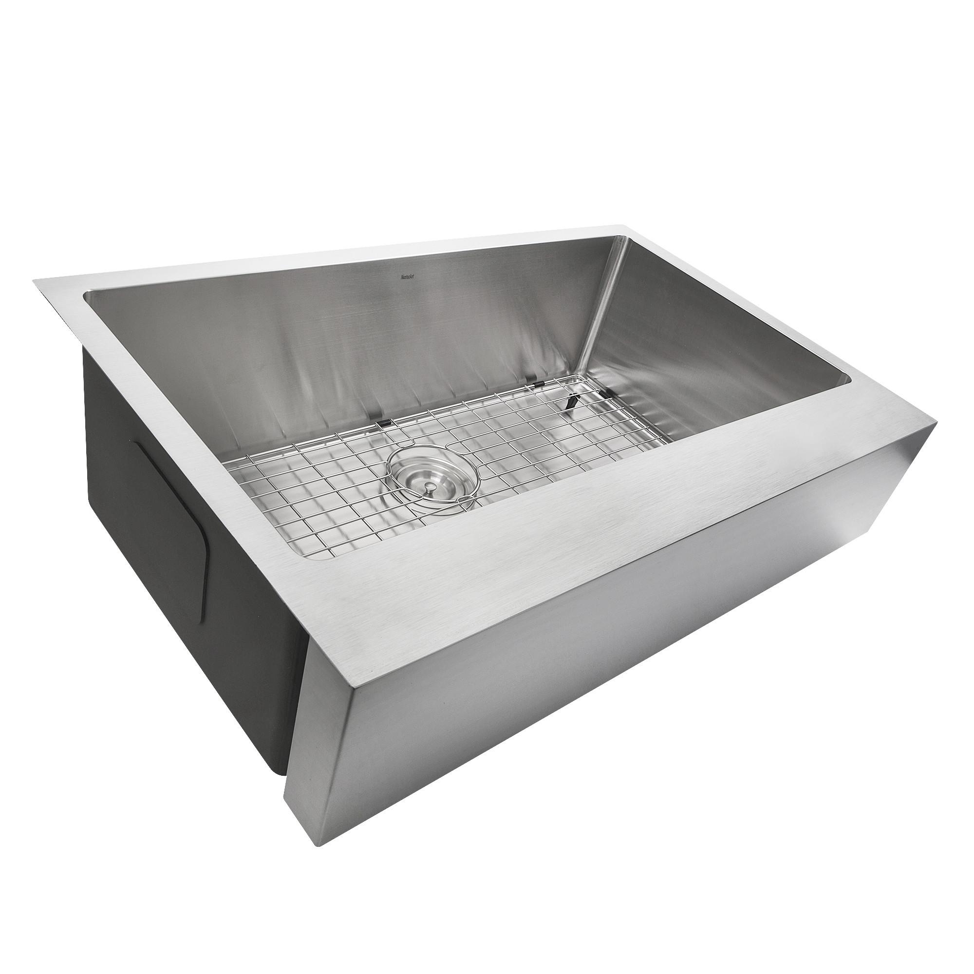 Nantucket EZApron33 Patented Design Pro Series Kitchen Sink w/ Apron Front