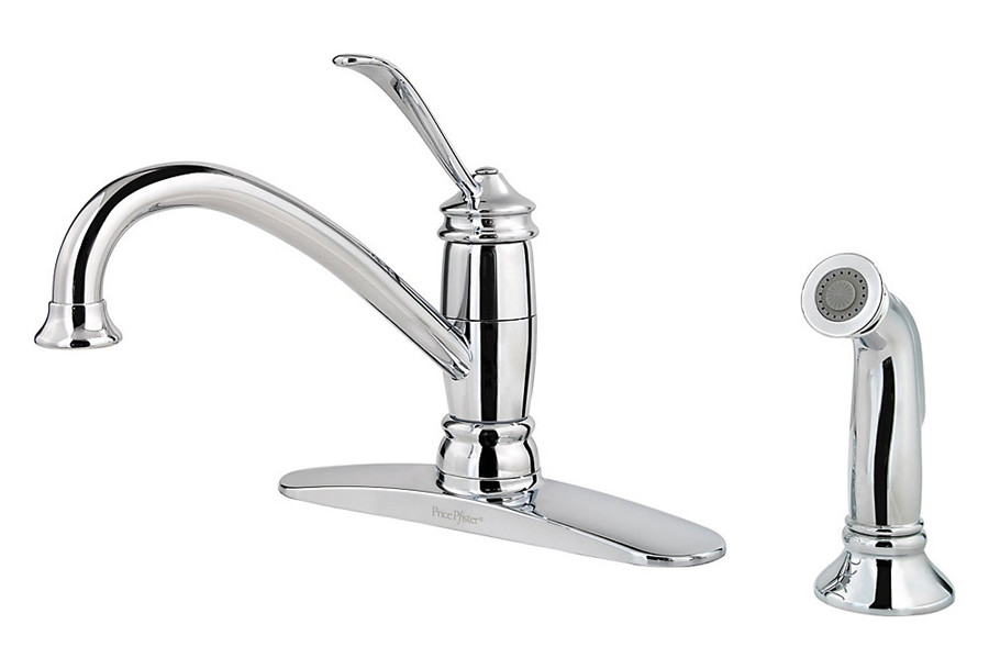 Pfister F034-4ALC Brookwood Series 1-Handle Kitchen Faucet in chrome