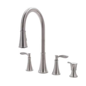 Pfister F531-4PAS Petaluma  Series 2-Handle Kitchen Faucet in Stainless Steel
