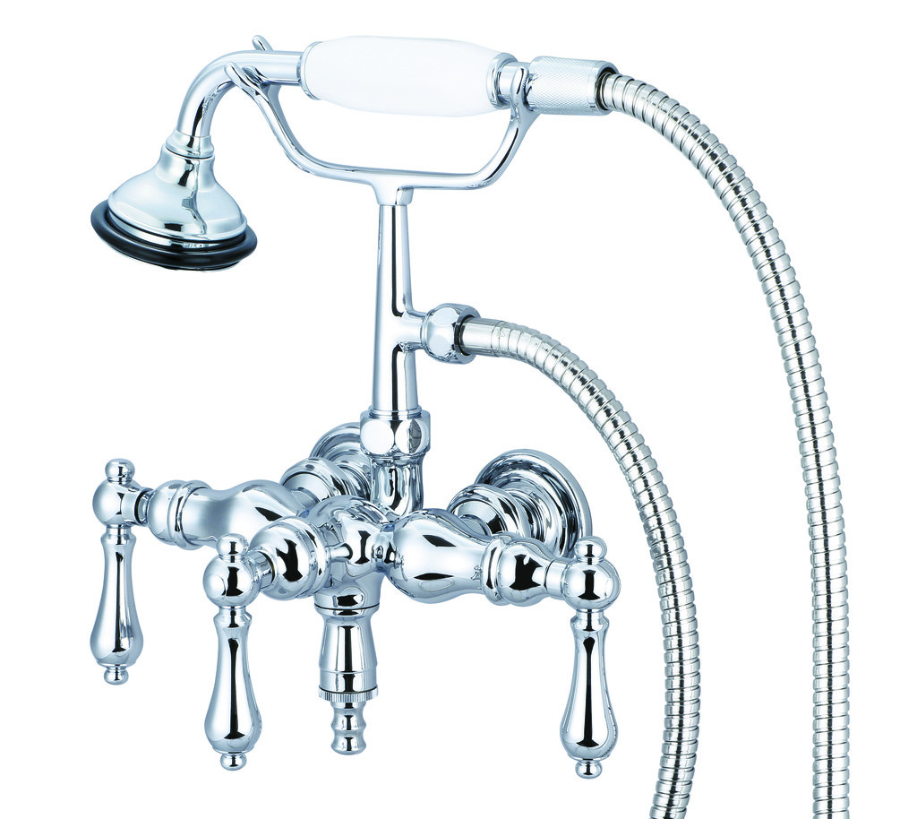 Water Creation F6-0017-01-AL Chrome Down Spout Tub Faucet With Handheld Shower