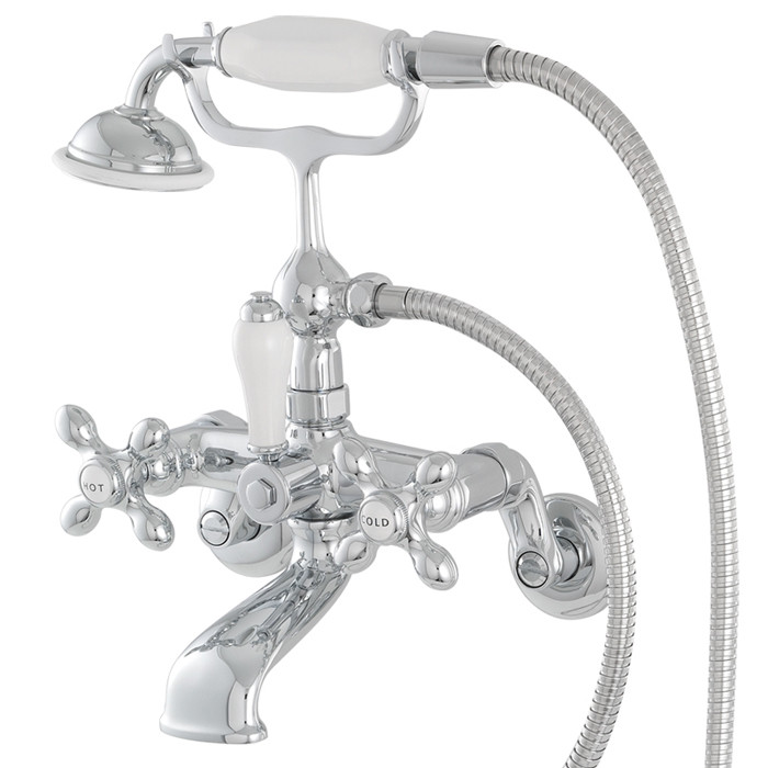 Faucet For Bathtub Wall Mount In Polished Chrome