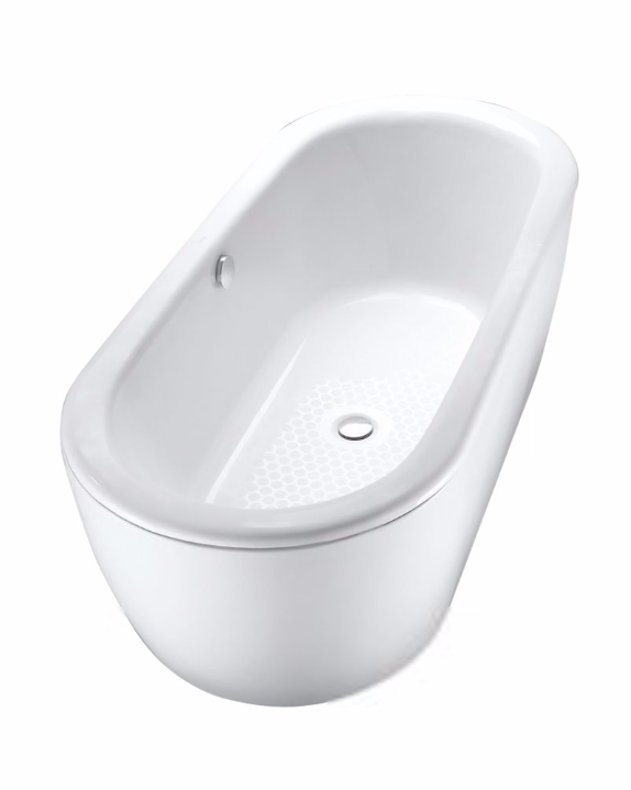 TOTO FBF794S#01D Nexus Free Standing Oval Cast Iron Bathtub With Center Drain