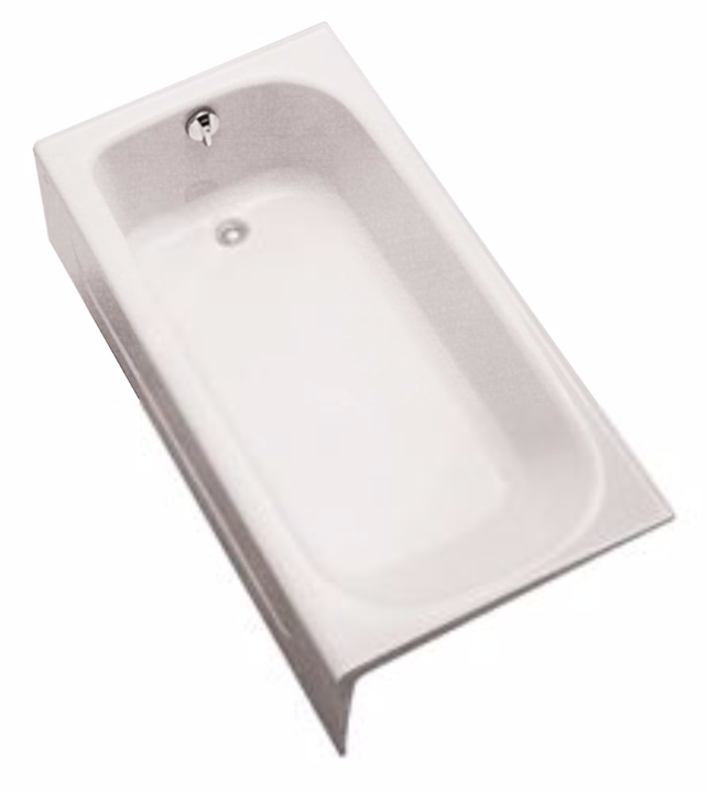 TOTO FBY1515LP Enameled Cast Iron Bathtub With Apron And Left Hand Drain