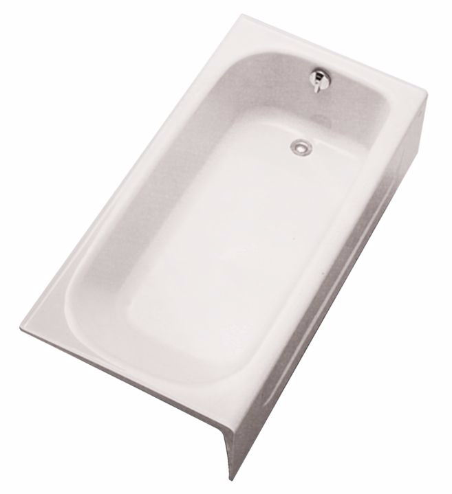TOTO FBY1515RP Enameled Cast Iron Bathtub With Apron And Right Hand Drain