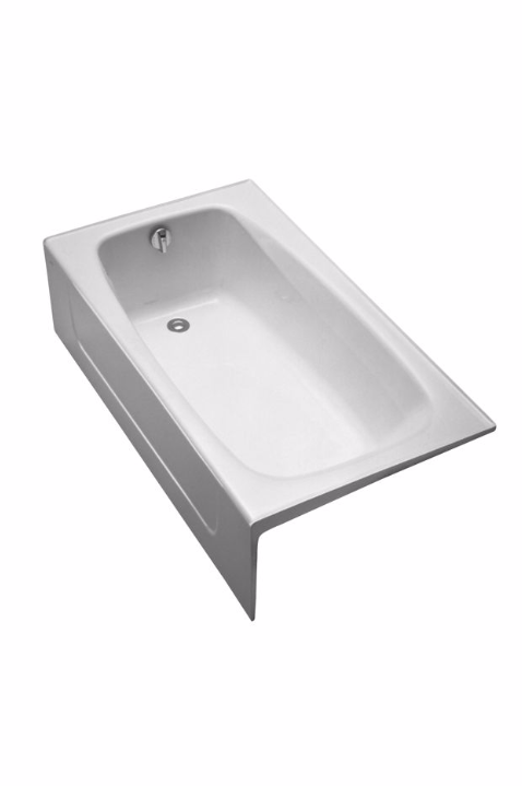 TOTO FBY1525RP Enameled Cast Iron Bathtub With Apron And Right Hand Drain