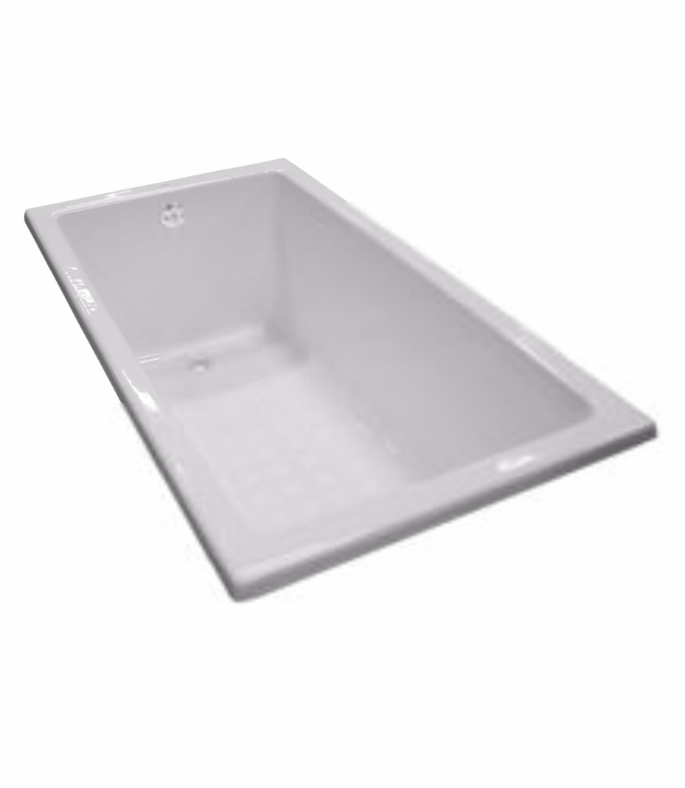TOTO FBY1550P Enameled Cast Iron Drop In Rectangular Soaking Bathtub