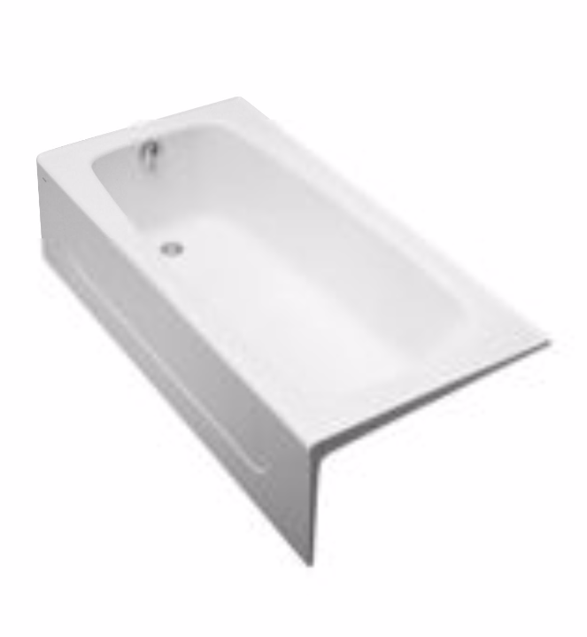 TOTO FBY1715RP Enameled Cast Iron Bathtub With Right Drain And Apron