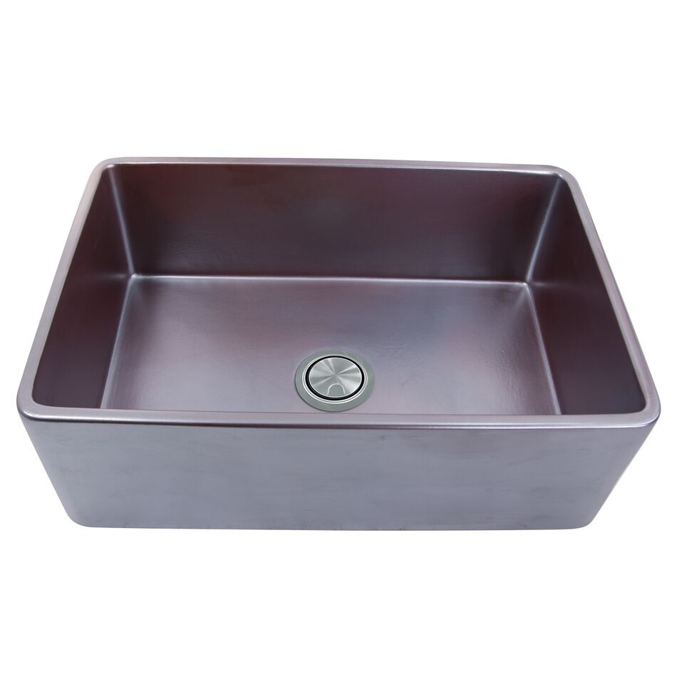 "Nantucket Sinks FCFS3320S-ACCIAIO 33"" Farm Fireclay Sink In Iridescent"