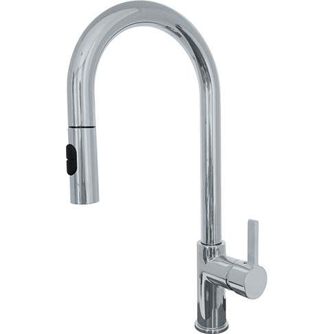 Franke FF20380 Rigo Lever Handle Kitchen Faucet with Pull Down Spray in Satin Nickel