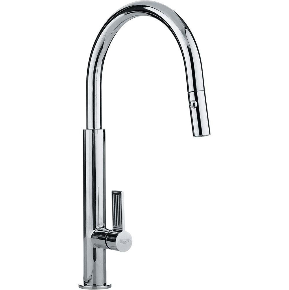 Franke FF2700 Evos Single Handle Pull Down Spray Kitchen Faucet in Polished Chrome