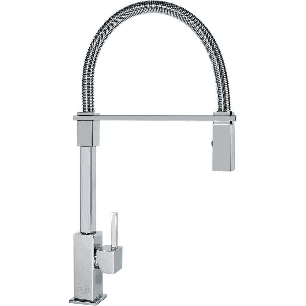 Franke FF2800 Planar 8 Deck Mounted Kitchen Faucet with Pull Down Spray in Polished Chrome
