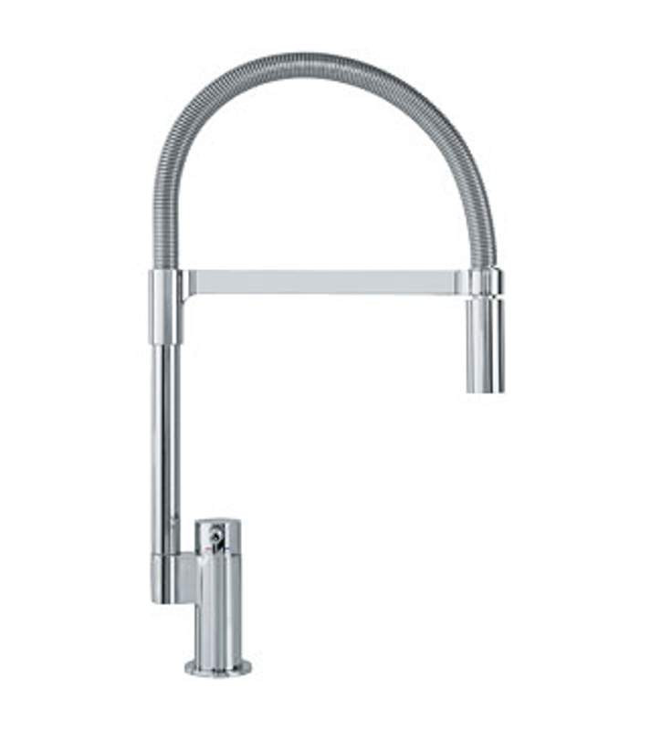 Franke FF2900 Manhattan Single Hole Kitchen Faucet in Polished Chrome with Pull Down Spray