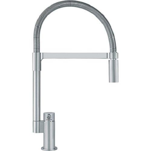 Franke FFB2980 Satin Nickel Manhattan Deck Mount Bar Kitchen Faucet with Pull Down Spray