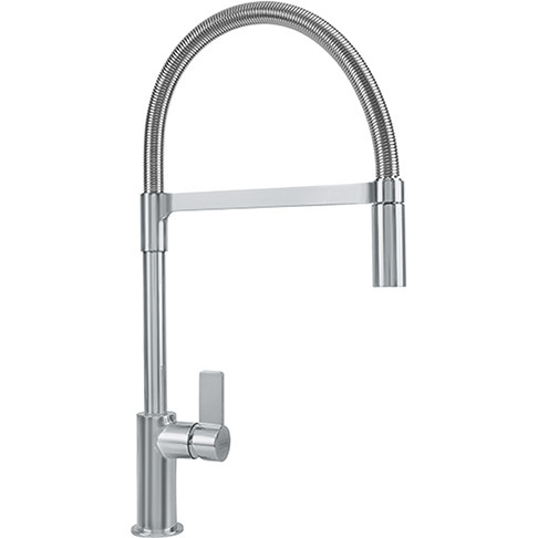 Franke FFPD3180 Ambient Pullout Spray High Arc Kitchen Faucet In Satin Nickel