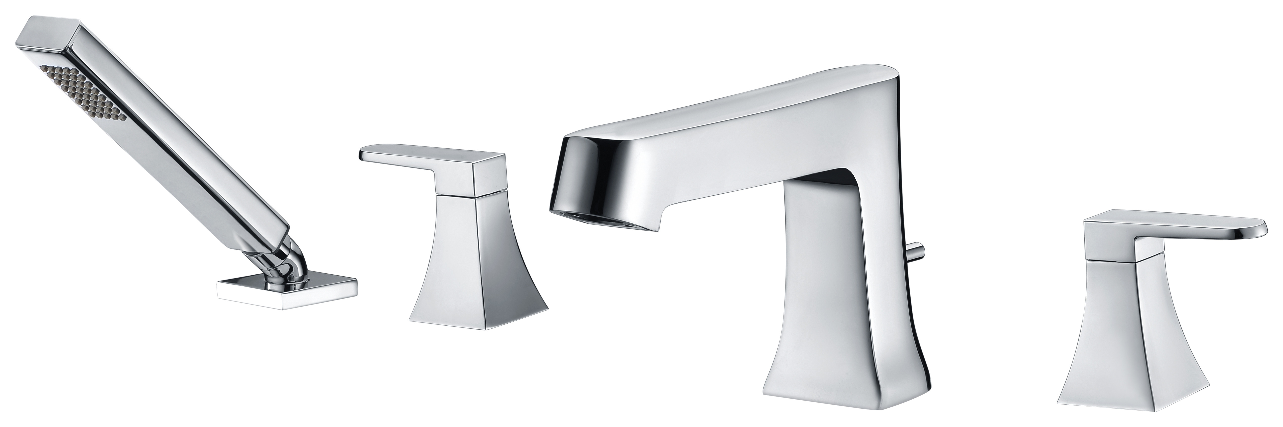 ANZZI FR-AZ174 Cove Tub Faucet with Handheld Sprayer In Polished Chrome