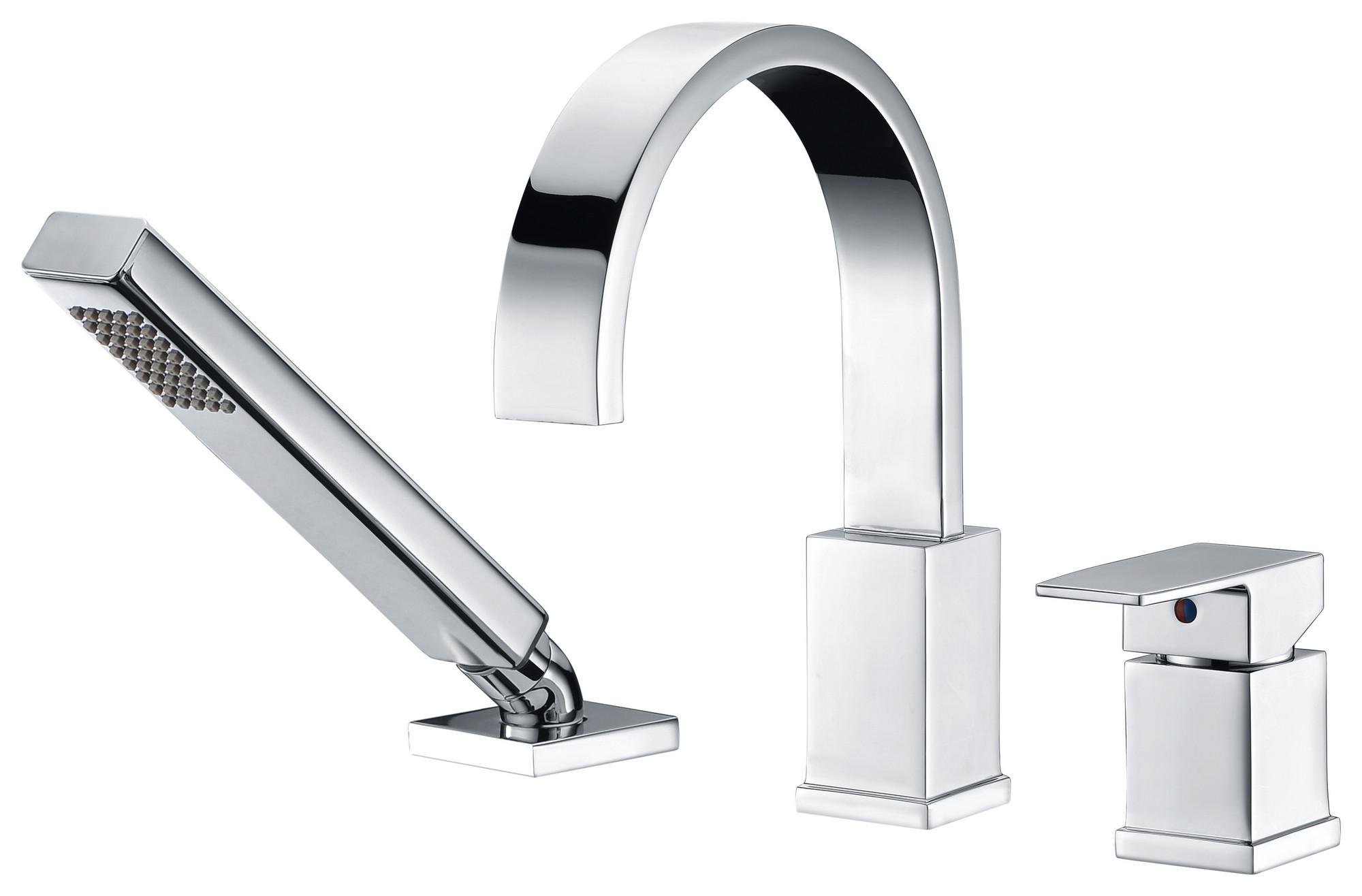ANZZI FR-AZ473 Polished Chrome Nite Roman Tub Faucet With Handheld Sprayer
