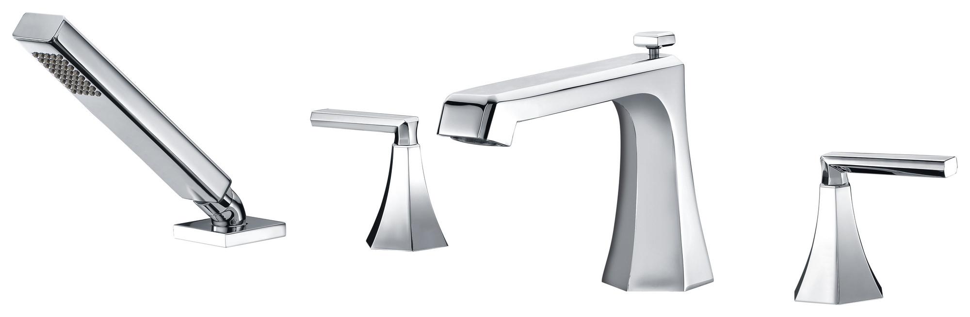 ANZZI FR-AZ574 Shine Series Deck Mount Roman Tub Faucet In Polished Chrome