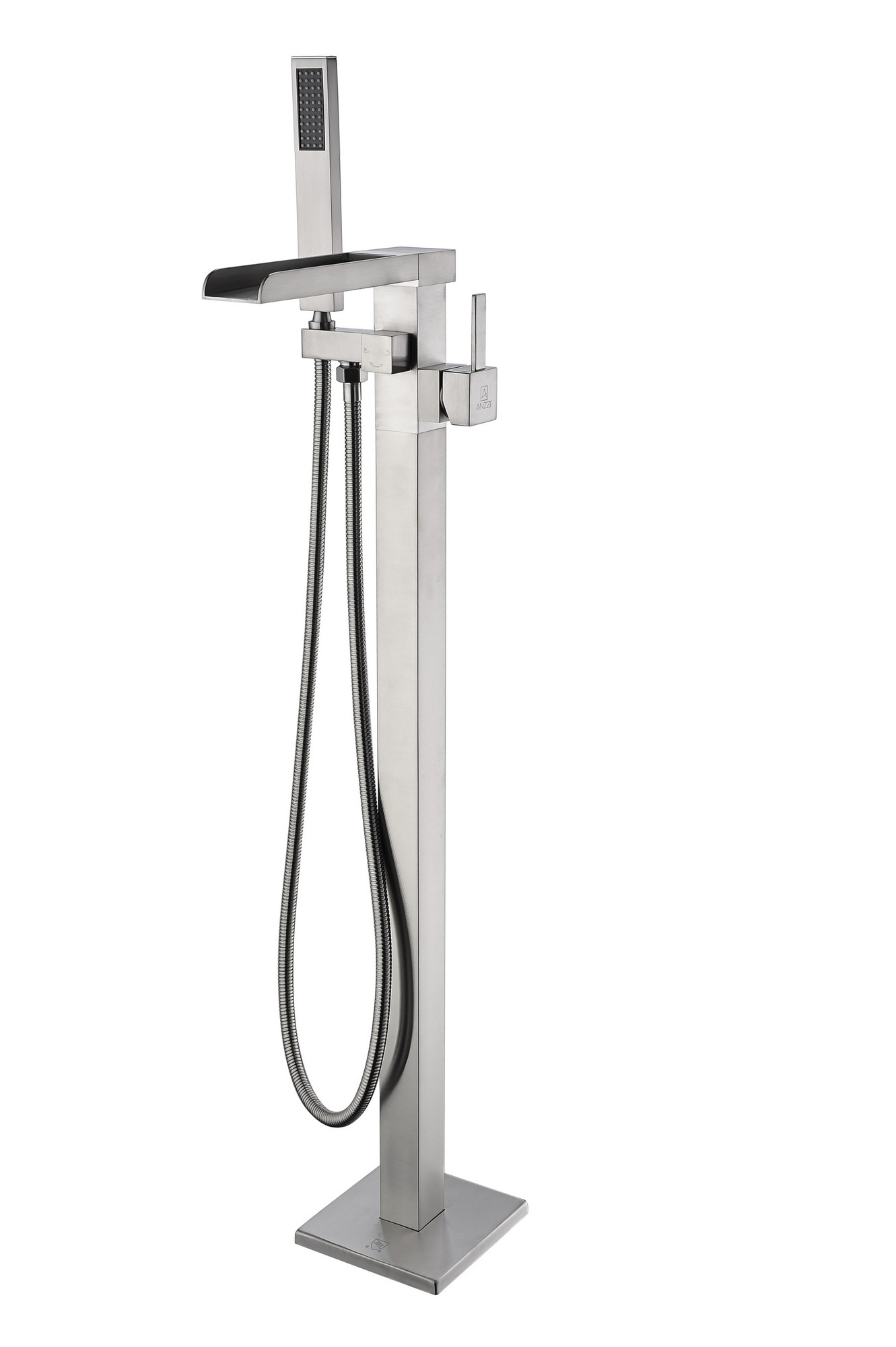 ANZZI FS-AZ0059BN Union Tub Faucet With Hand Shower In Brushed Nickel