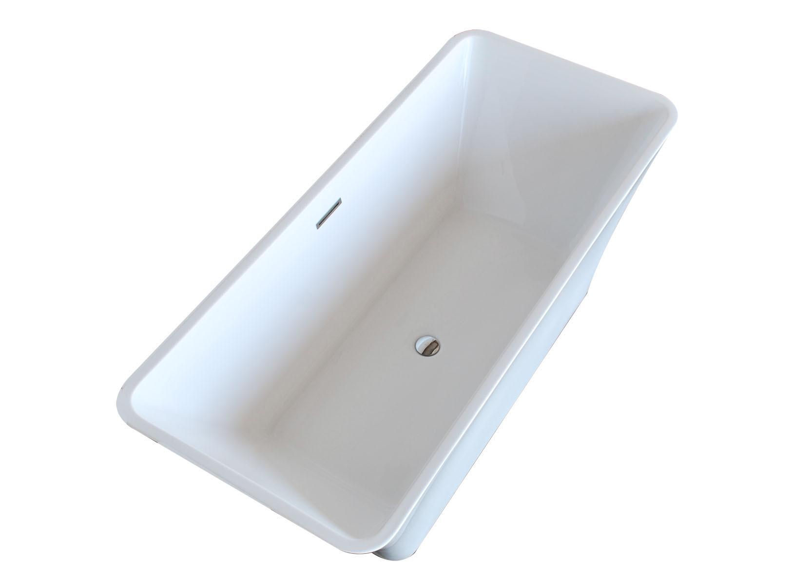 Anzzi FT-AZ006 Arden 5.5 ft. Center Drain Freestanding Bathtub Glossy White
