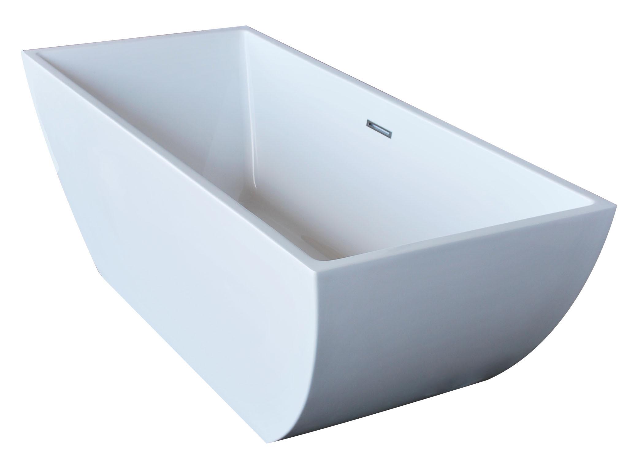 Anzzi FT-AZ007 Rook 5.6 ft. Center Drain Freestanding Bathtub Glossy White
